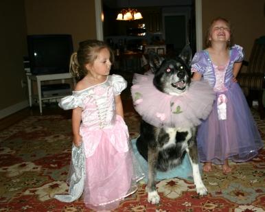 Princess dress-up - Aug. 2009