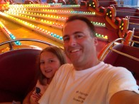 Kaitlyn and I on the Super Cat at Wonderland Pier in July 2010
