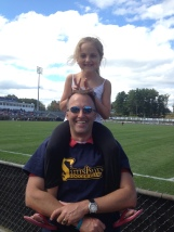 Skylar and me at a UConn Women's soccer game in Oct. 2013