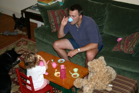 One of countless tea parties - 2005